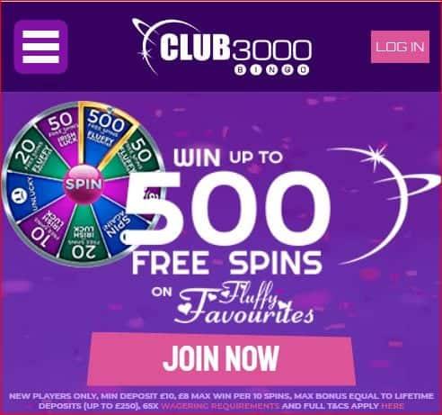 club 3000 bingo logo