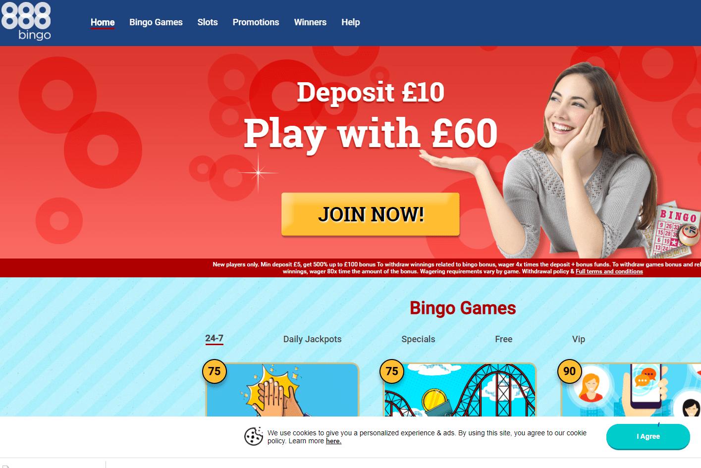 888 Bingo home