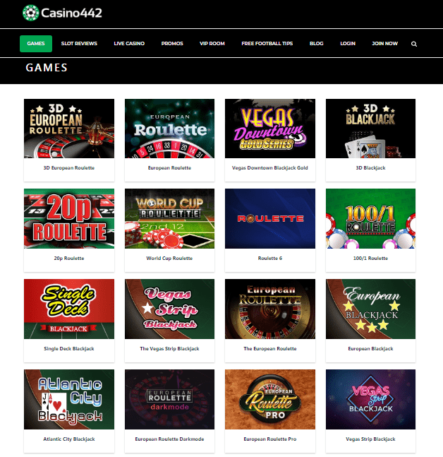 Casino 442 Game Page
