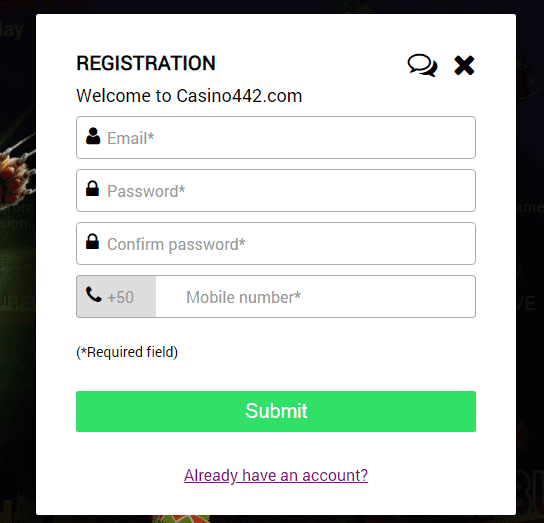 Casino 442 Registration