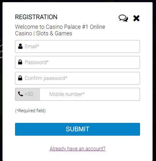 Casino Palace Registration