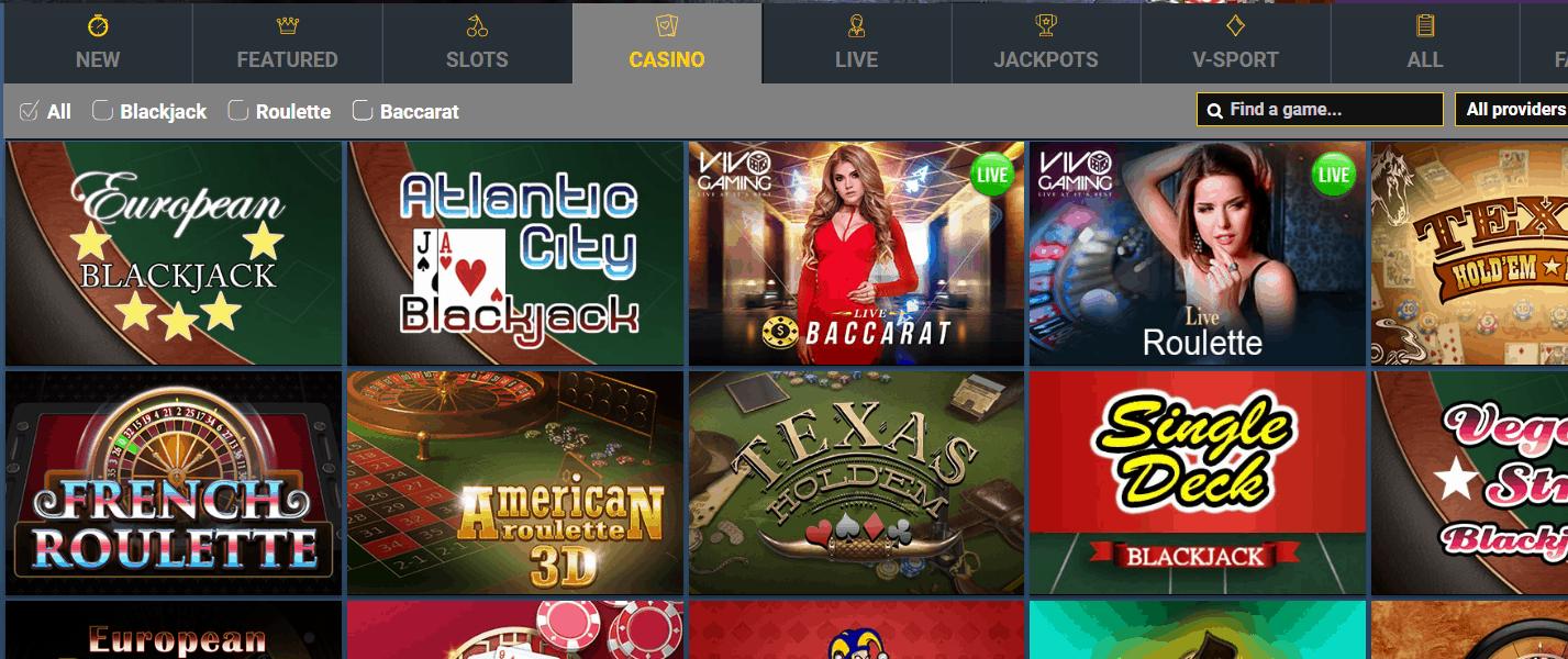 Casino Palace Game Page