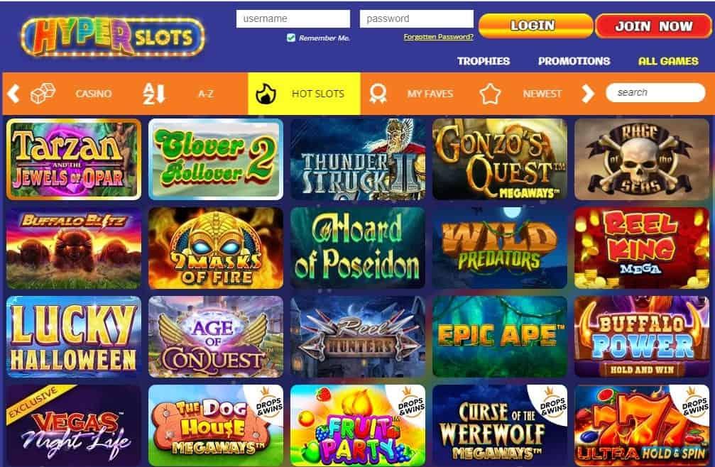 Hyper Slots games