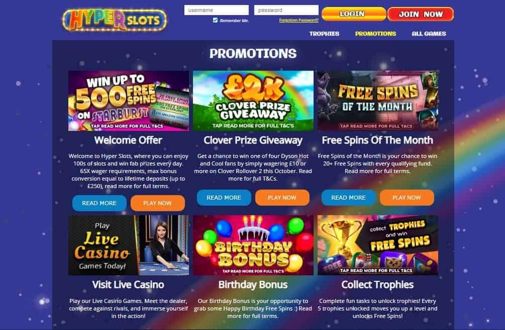 Hyper Slots promotions