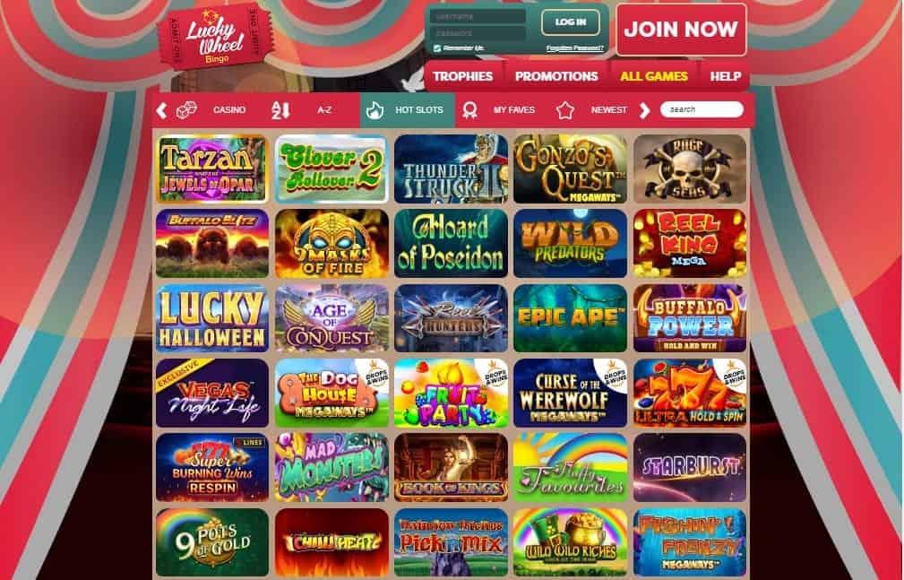 Lucky Wheel Bingo games
