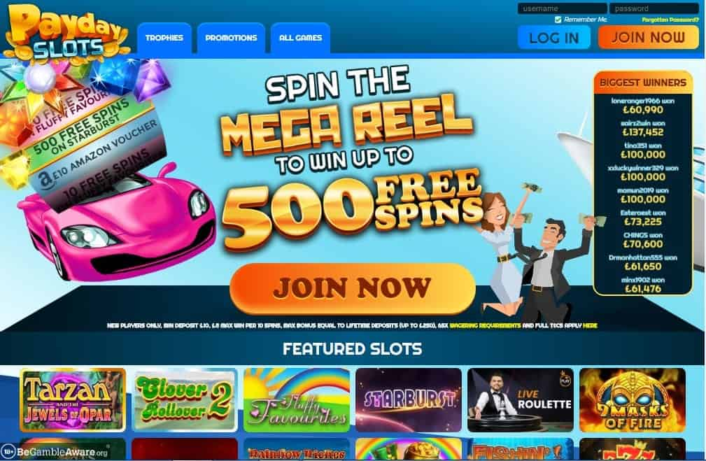 Fluffy Spins home page