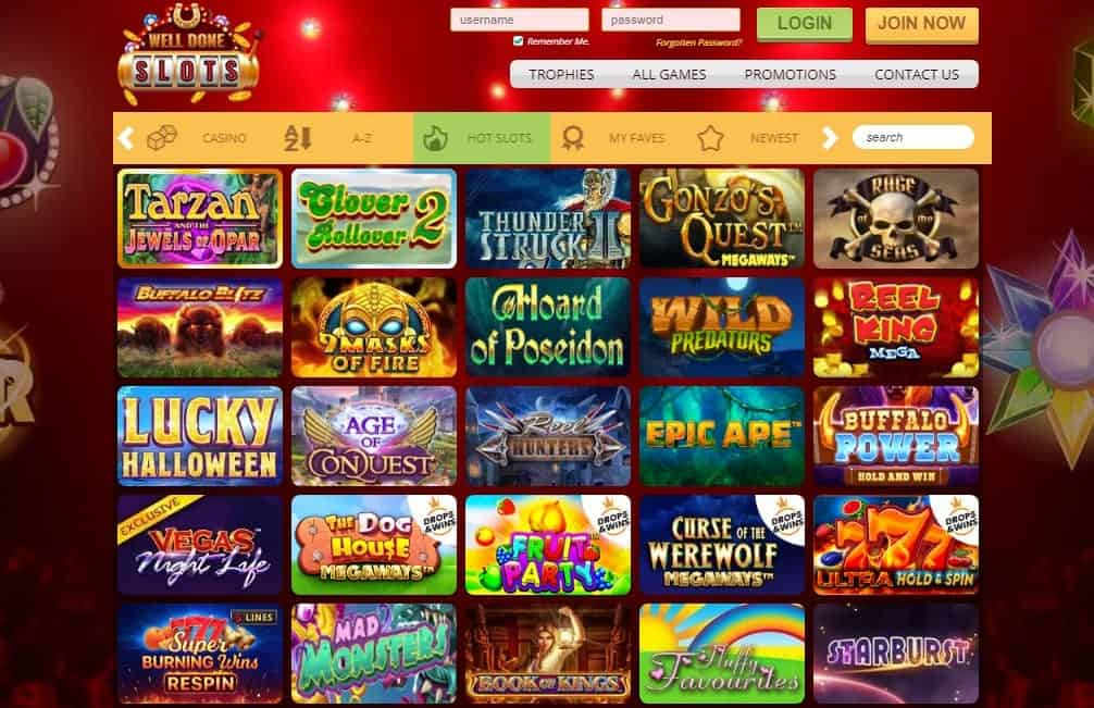 Well Done Slots games