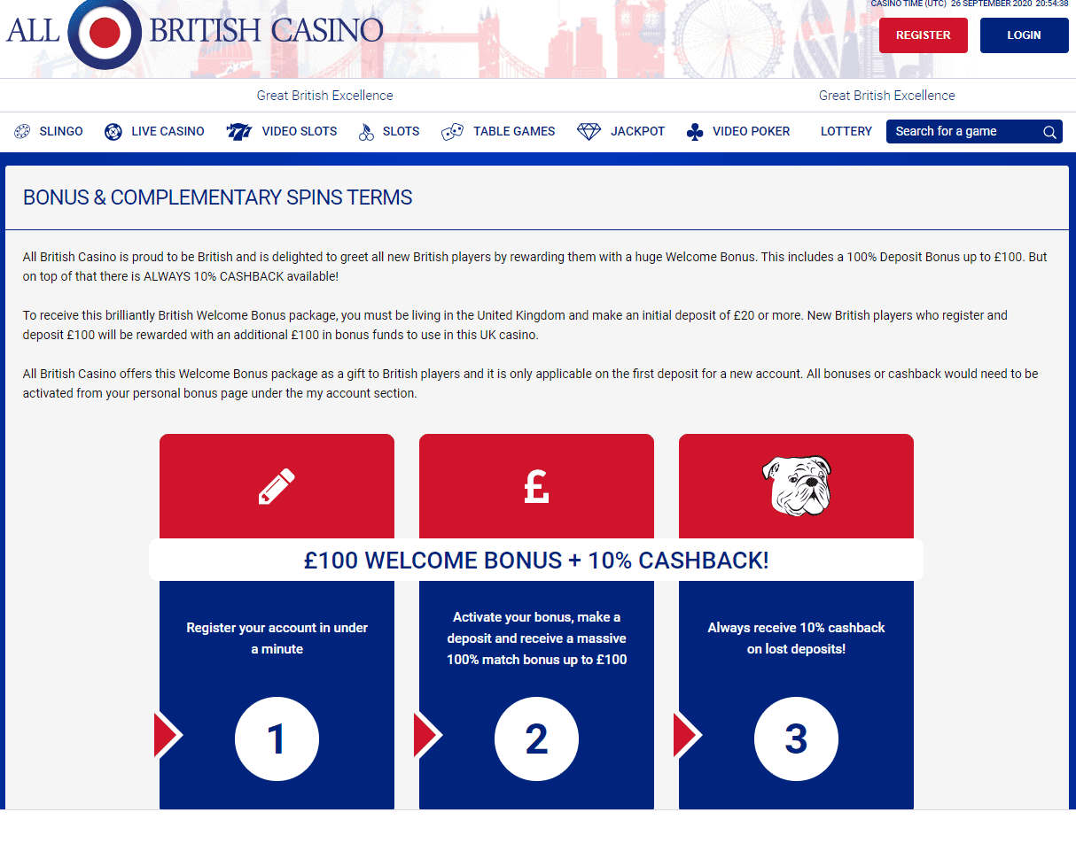 All British Casino promotions
