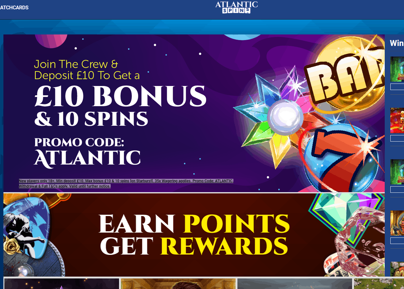 atlantic spins home page