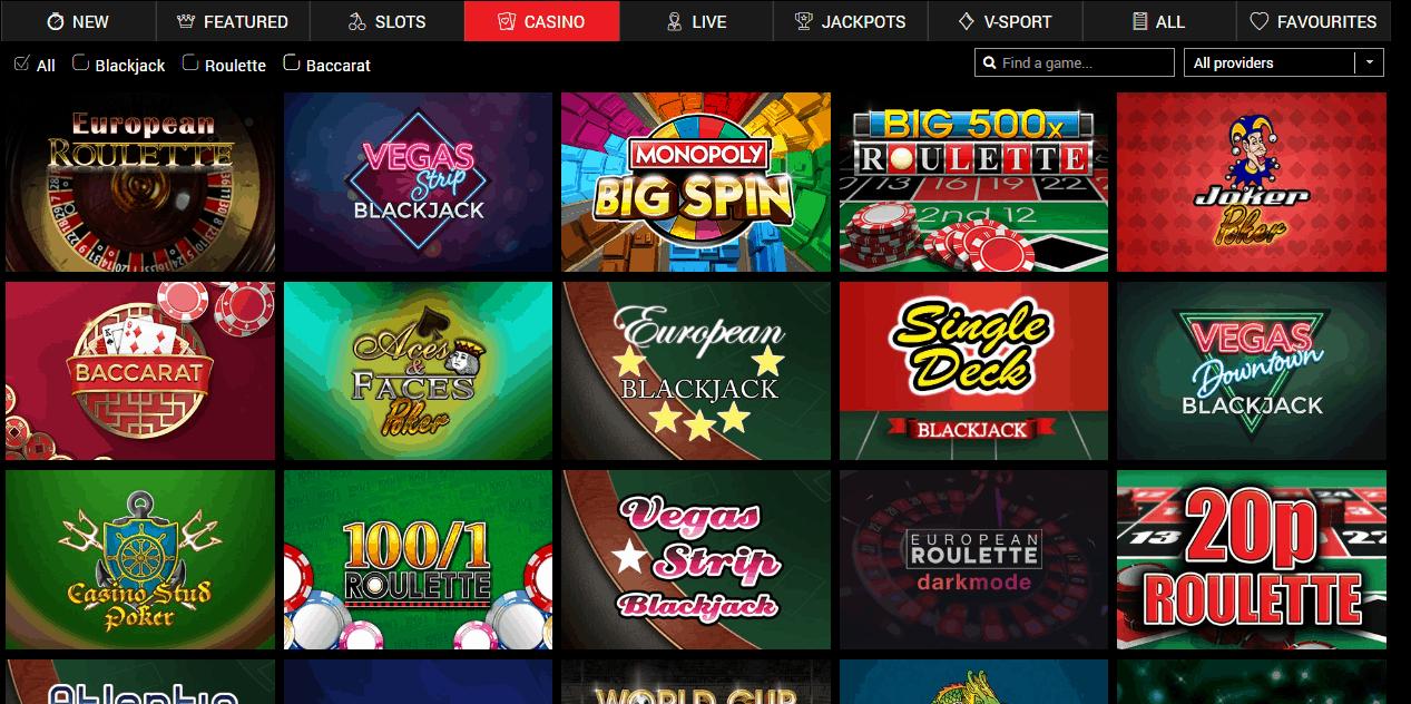 Azimut Casino Game Page