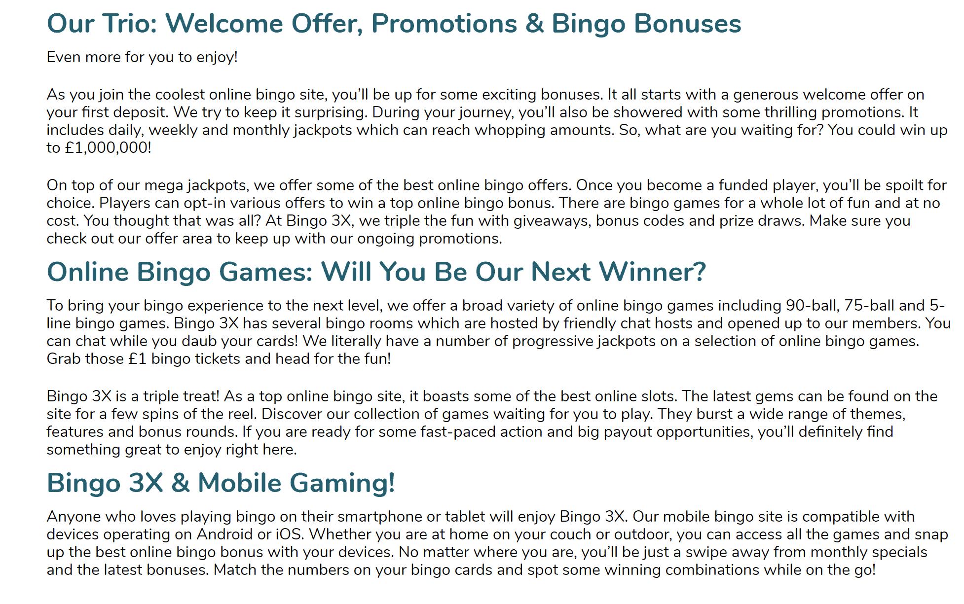 bingo 3x promo