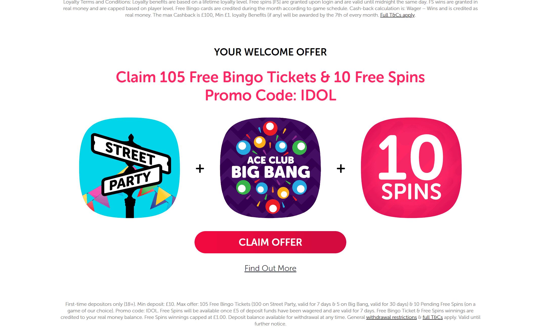 bingo idol promo