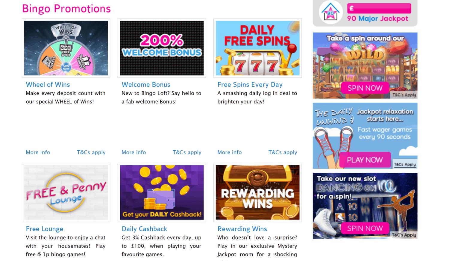 bingo loft promo