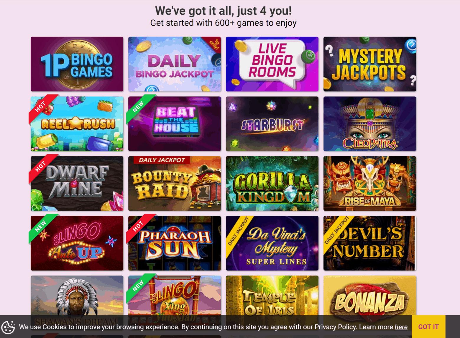 bingo4her games