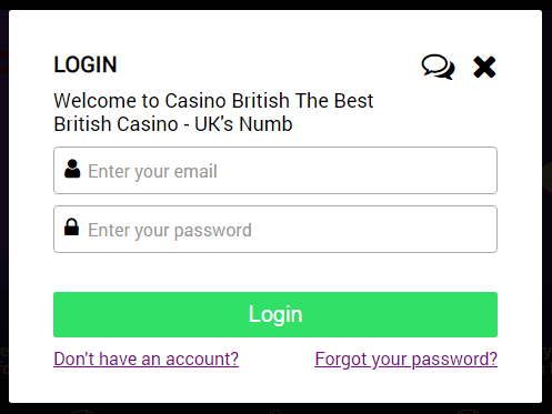 casino british login
