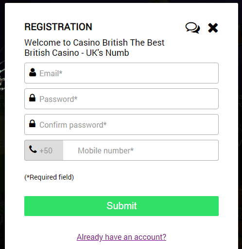 casino british registration