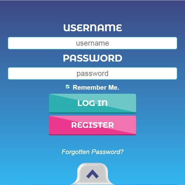 Fluffy Spins login page