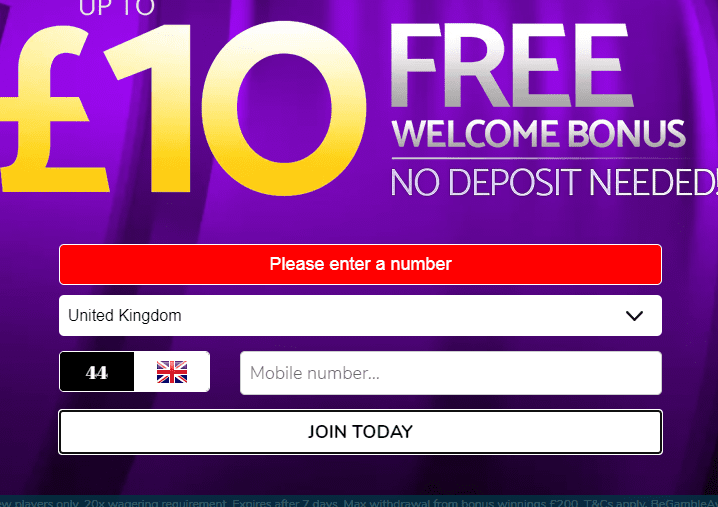 m fortune sign up page
