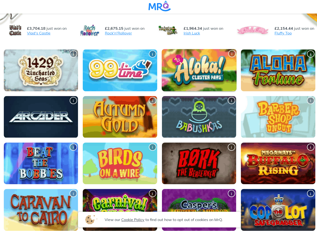 mrq games page