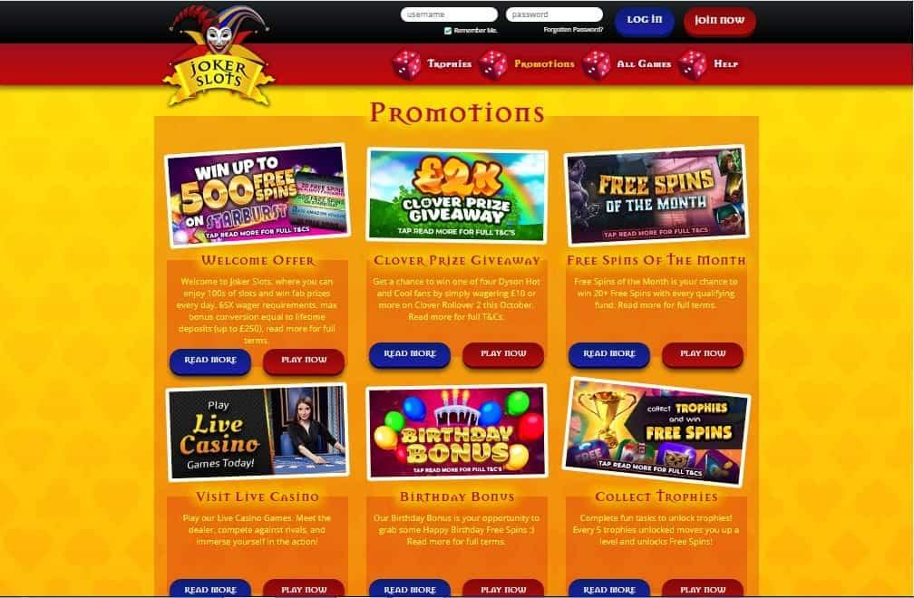 Joker Slots promotion