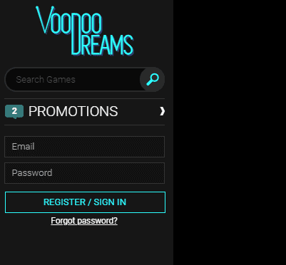voodoodreams login page