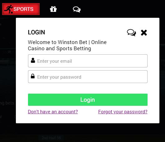 winston bet login page
