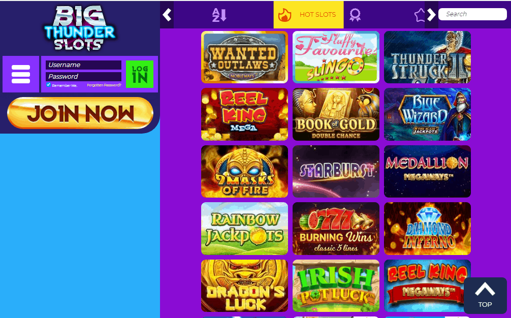 Big Thunder Slots games