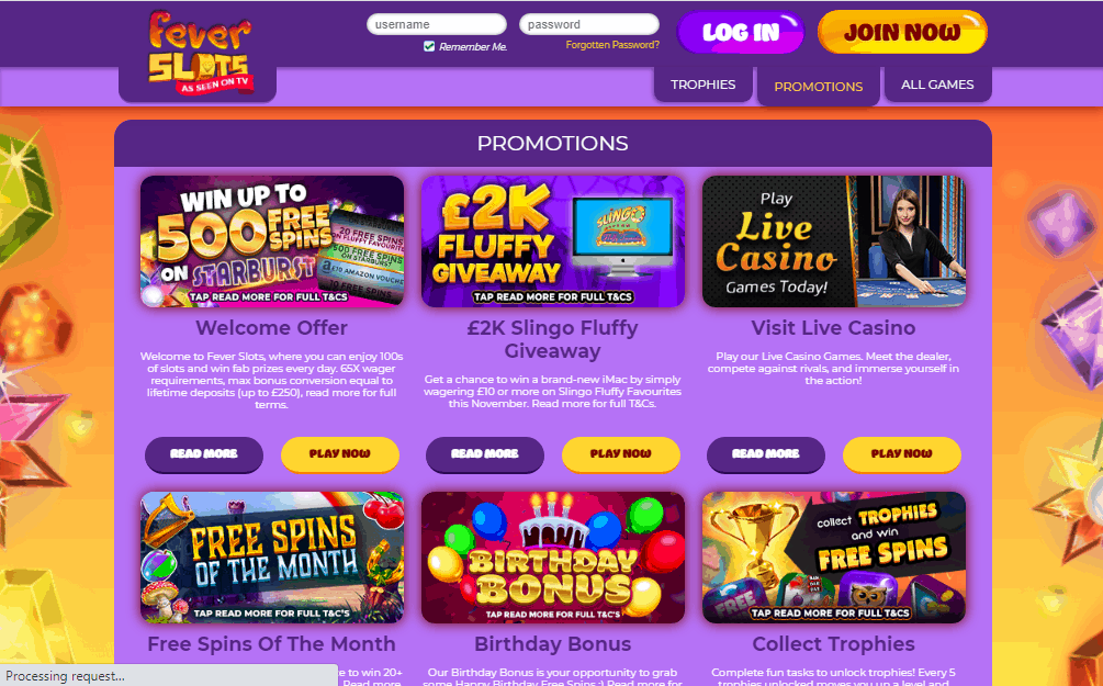 Fever Slots promotions