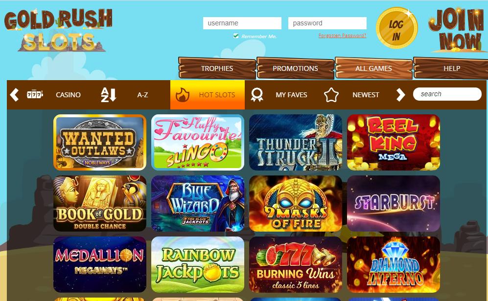Gold Rush Slots games