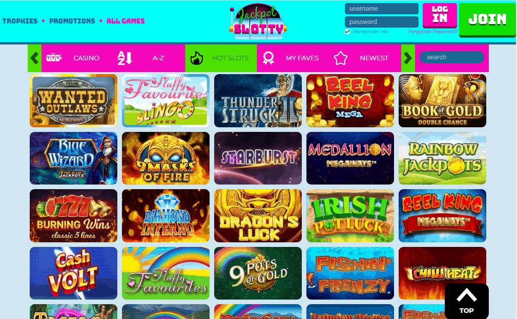 Jackpot Slotty games