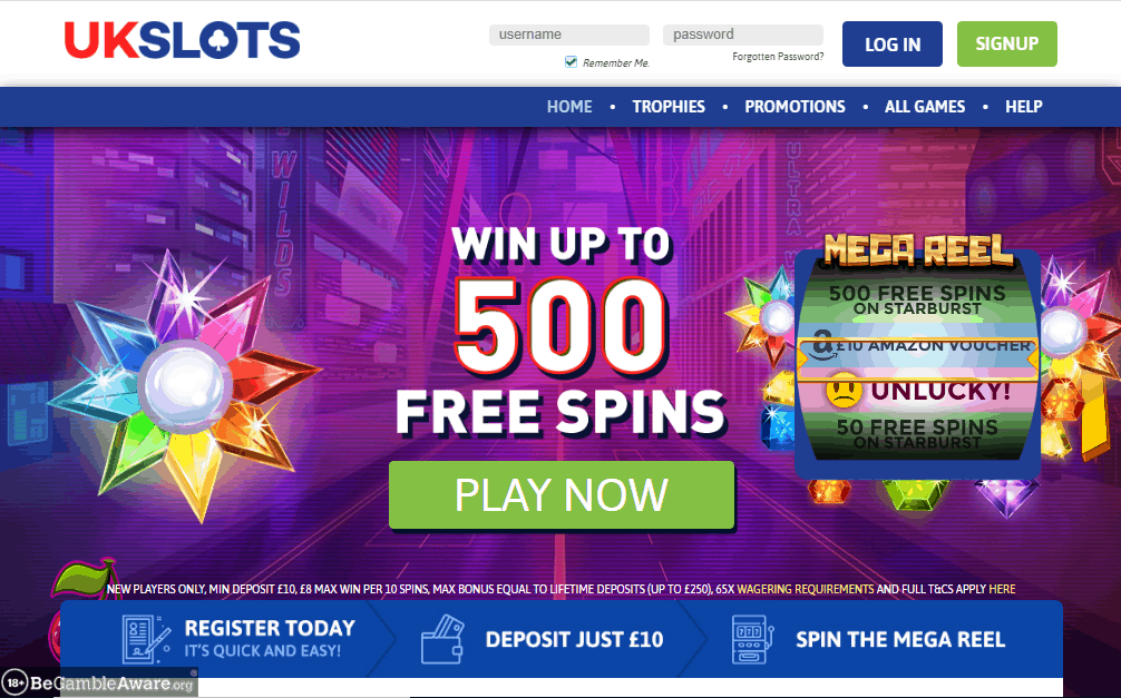 UK Slots home page