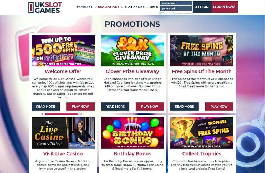 UK Slots promotions