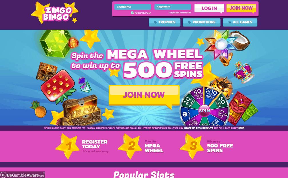 Zingo Bingo home page