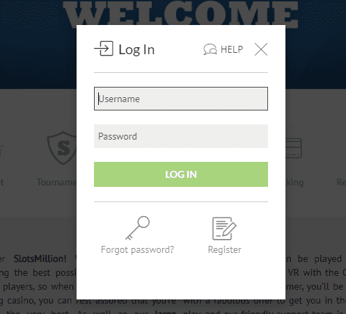 slotmillion login page